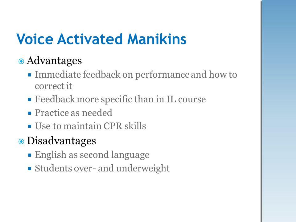 Voice Activated Manikins