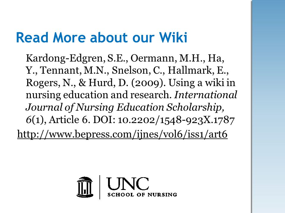 Read More about our Wiki