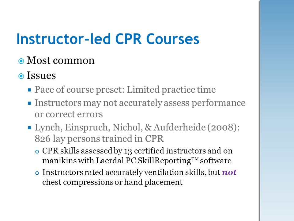 Instructor-led CPR Courses