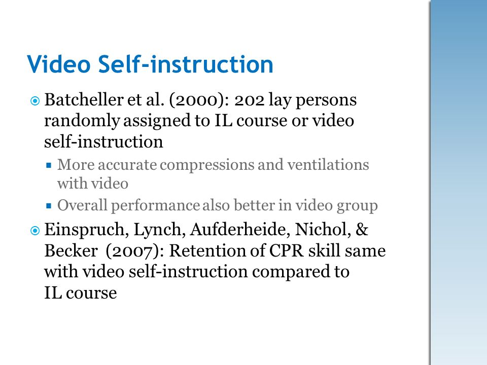 Video Self-instruction
