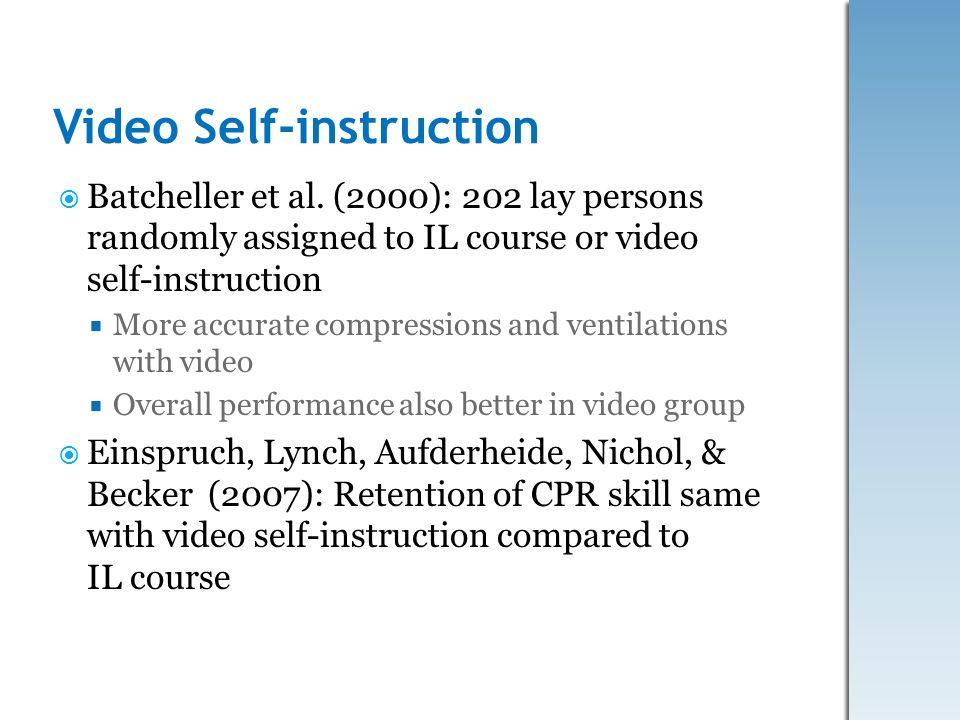 Video Self-instruction