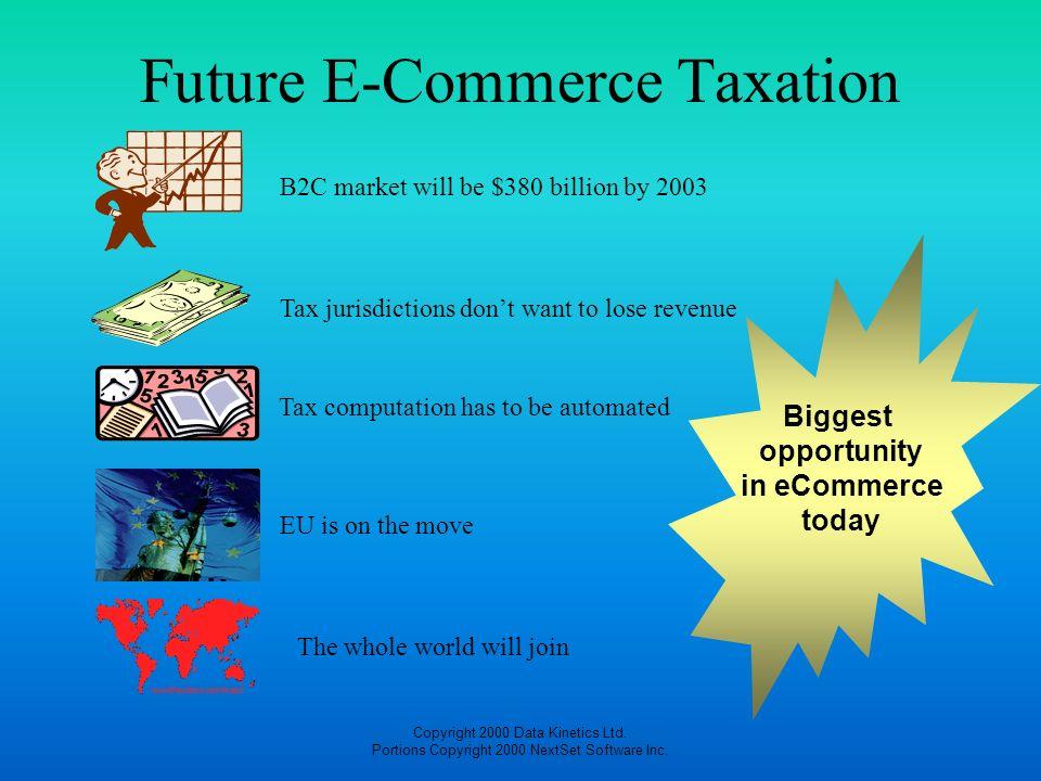 Future E-Commerce Taxation