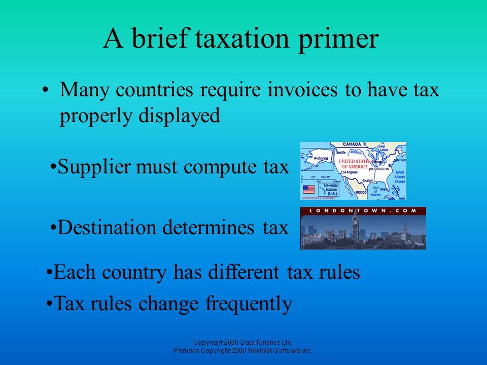 A brief taxation primer
