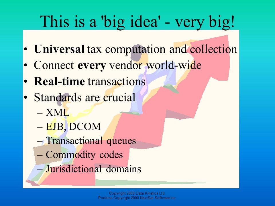 This is a big idea - very big!