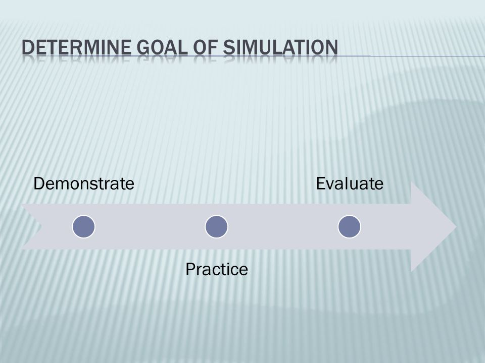 Determine Goal of Simulation