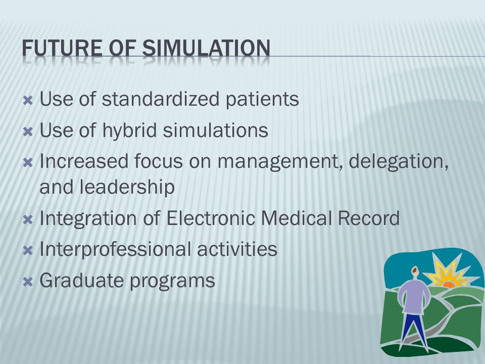 Future of simulation Use of standardized patients