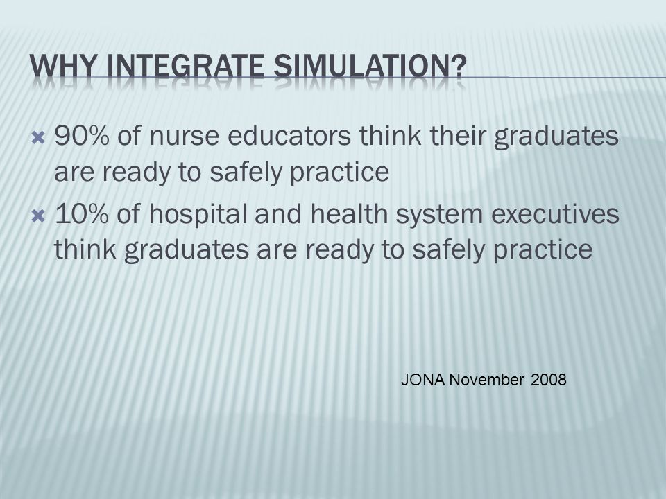 Why integrate simulation
