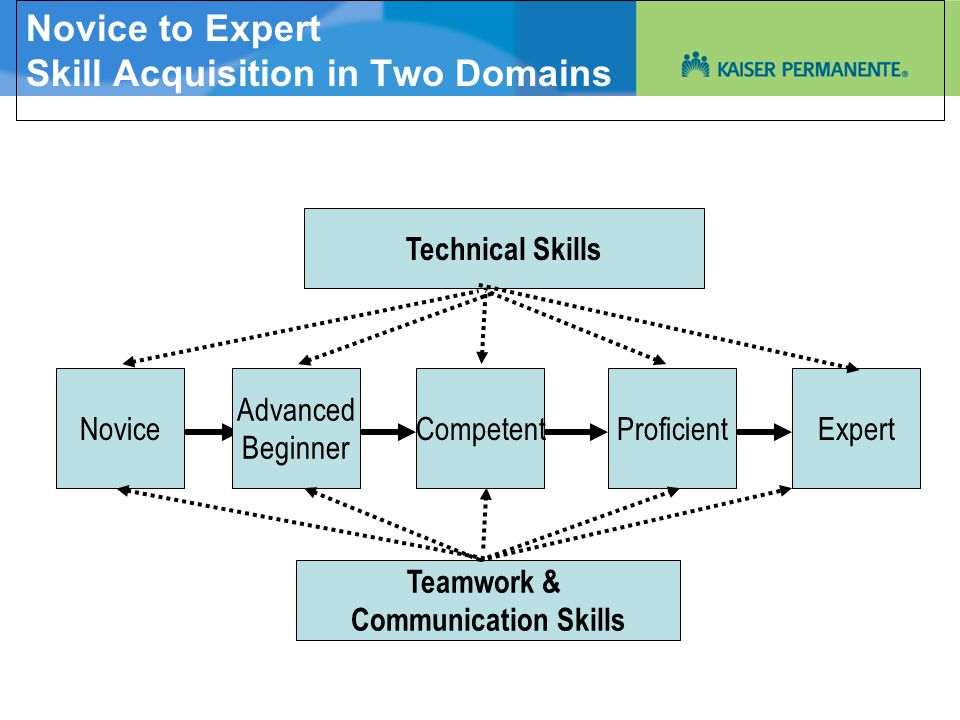 Novice to Expert Skill Acquisition in Two Domains
