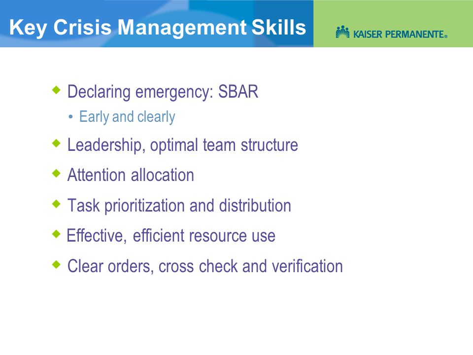Key Crisis Management Skills