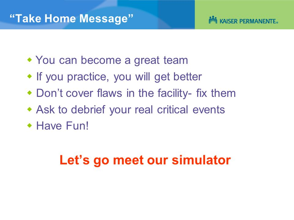 Let's go meet our simulator