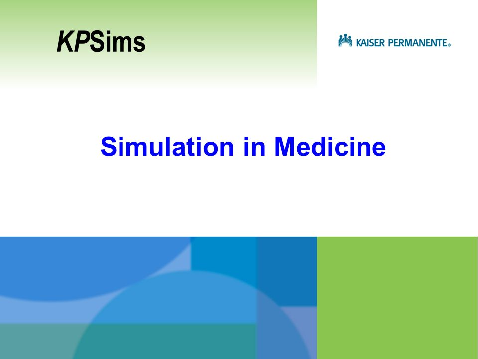 Simulation in Medicine