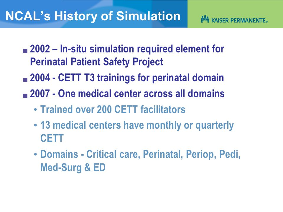 NCAL's History of Simulation