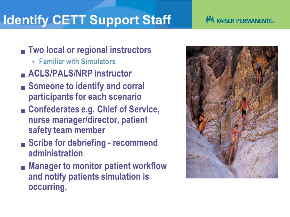 Identify CETT Support Staff