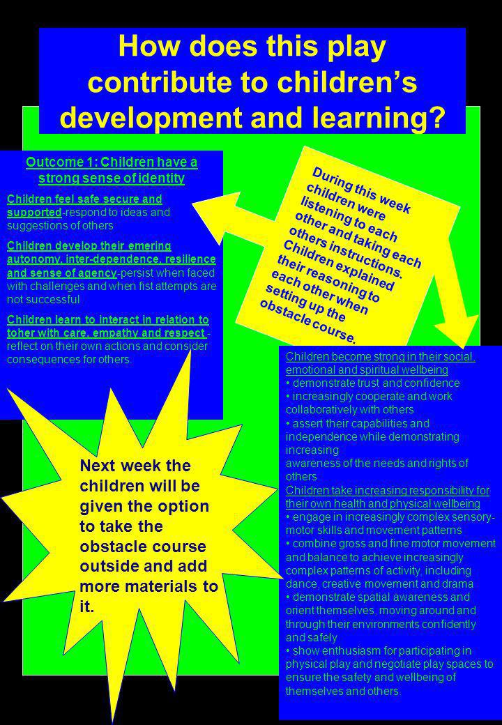 How does this play contribute to children's development and learning