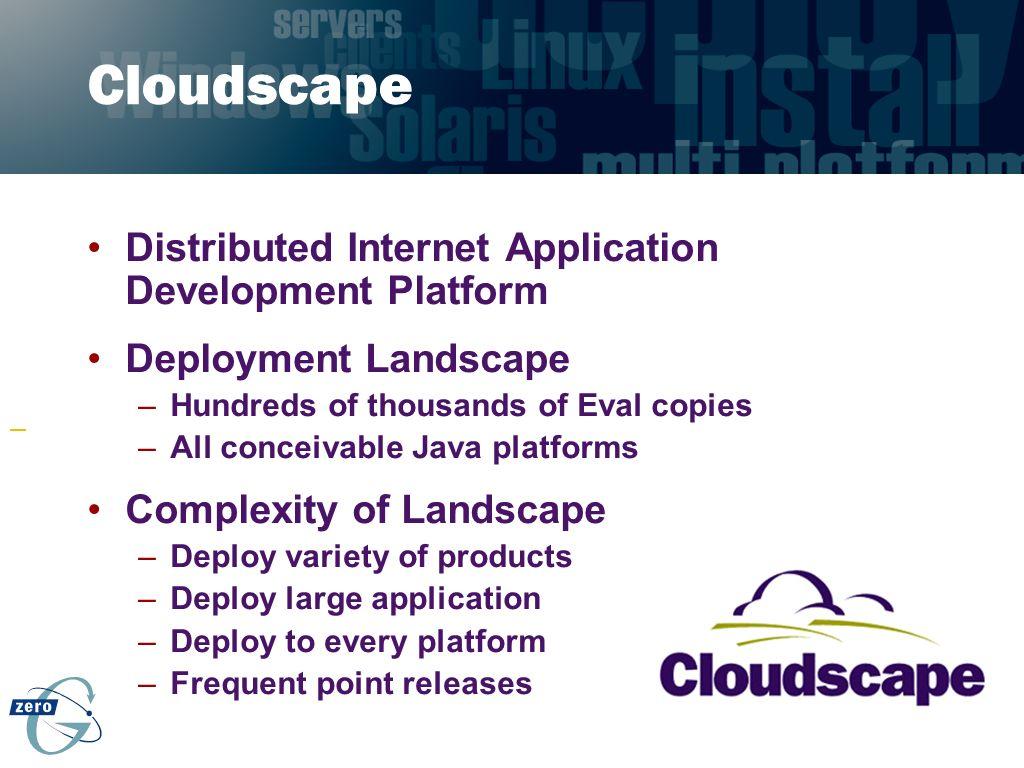Cloudscape Distributed Internet Application Development Platform