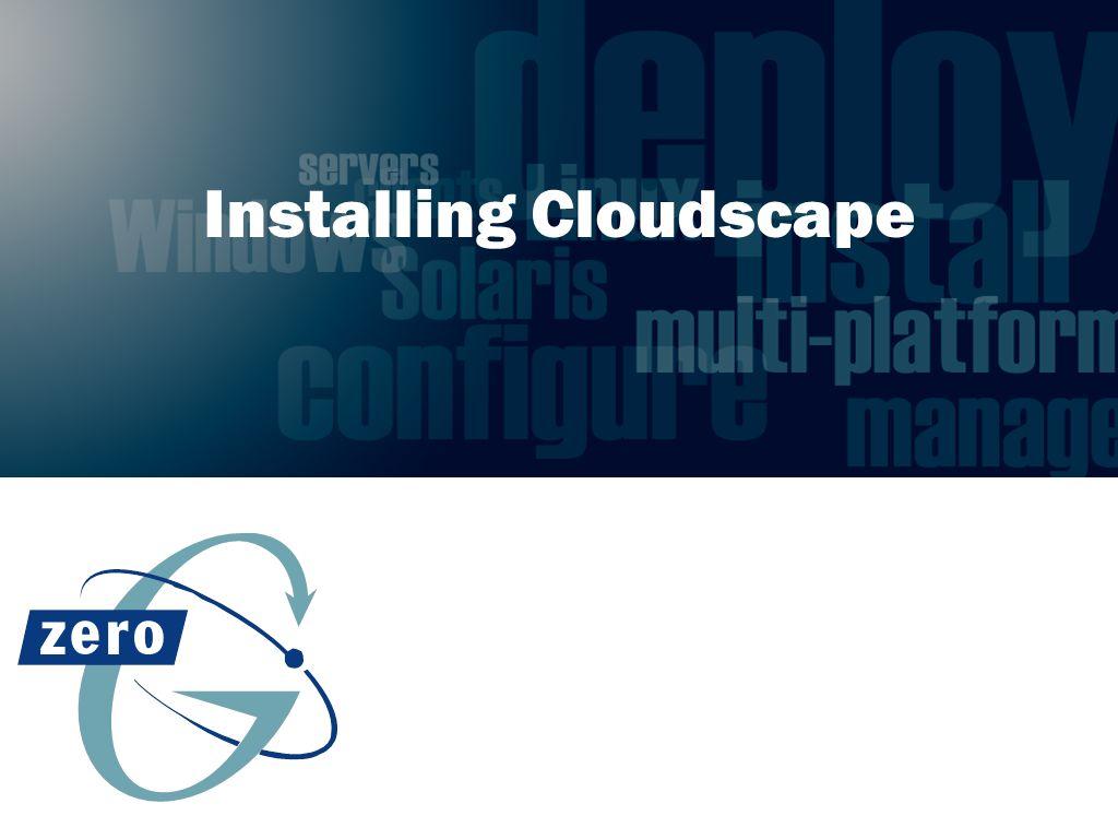 Installing Cloudscape