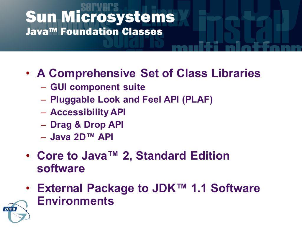 Sun Microsystems Java™ Foundation Classes
