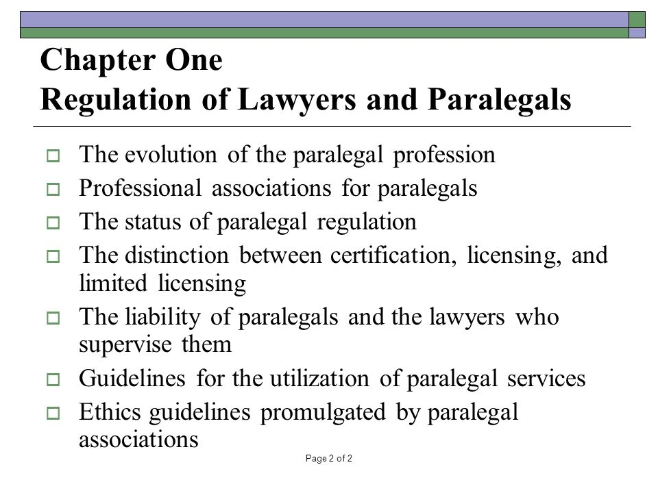 the paralegal profession chapter 1 From paralegal to subject matter expert – the evolution of the paralegal profession thursday, october 22 5/1/2018 relativity fest.