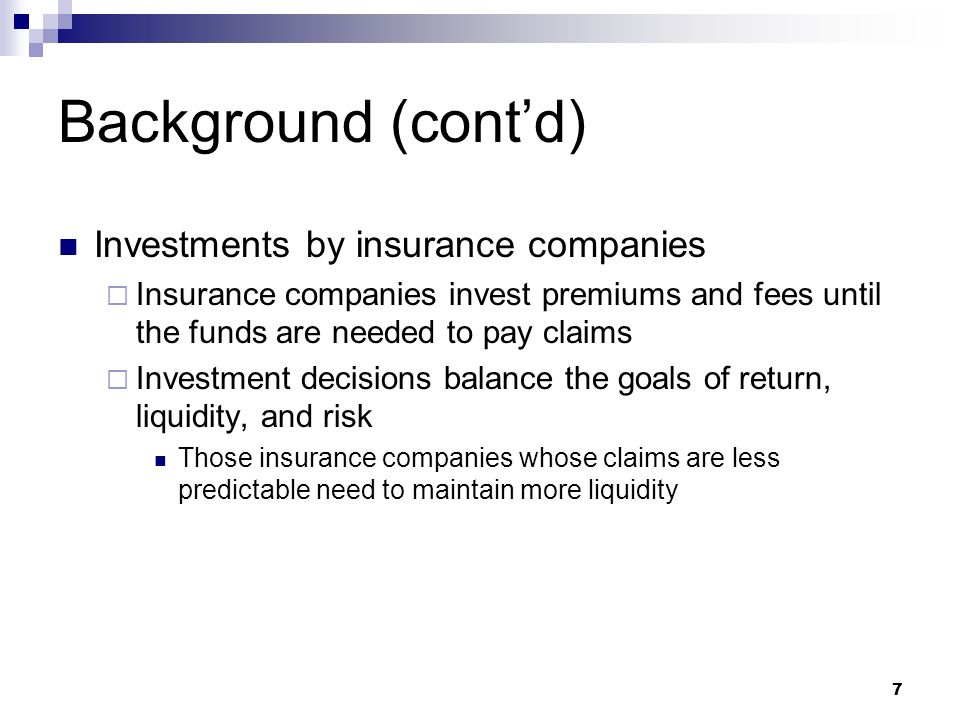 investment patterns of insurance companies Unit linked insurance plan (ulip) is an insurance cum investment plan where a part of the premium gets invested into market instruments like equity, mutual funds or stocks to build a corpus over time in addition to providing an insurance cover to the insurance policy holder.