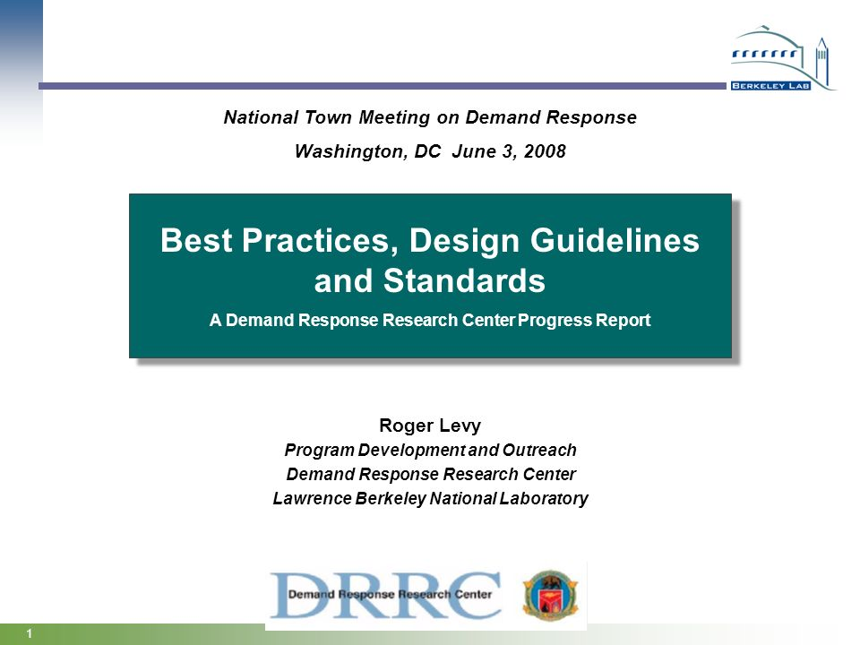 Best Practices, Design Guidelines and Standards