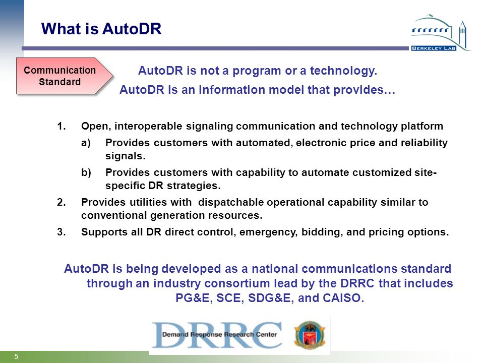 What is AutoDR AutoDR is not a program or a technology.
