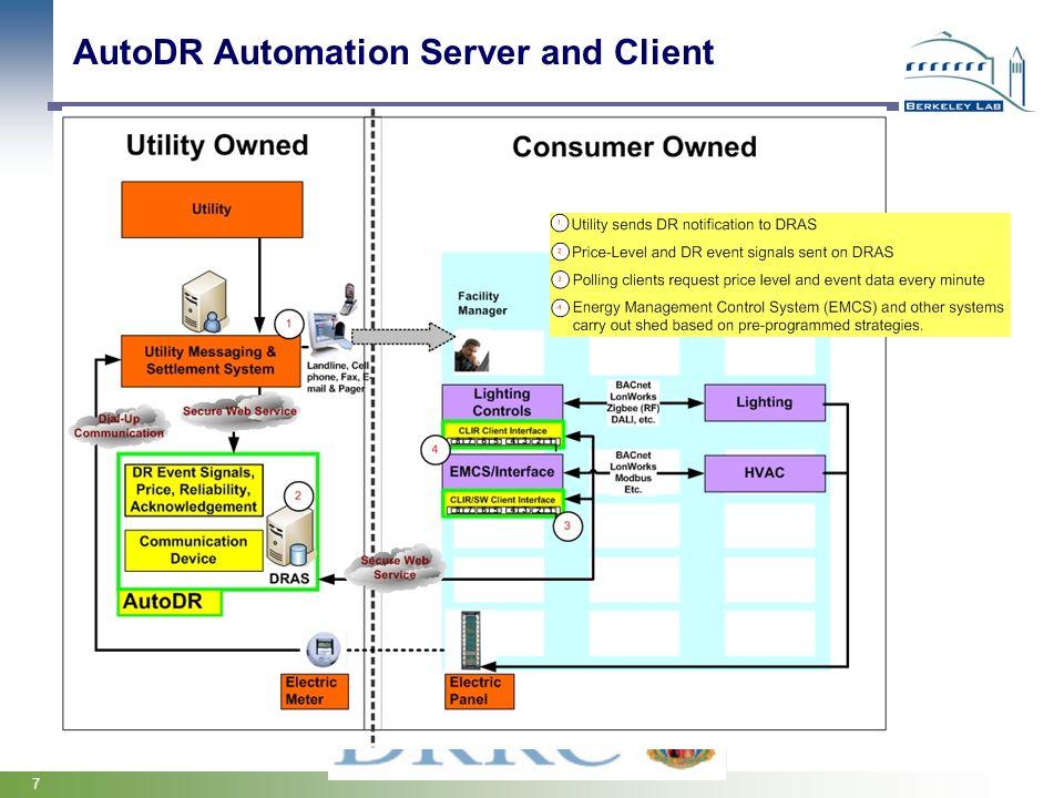 AutoDR Automation Server and Client