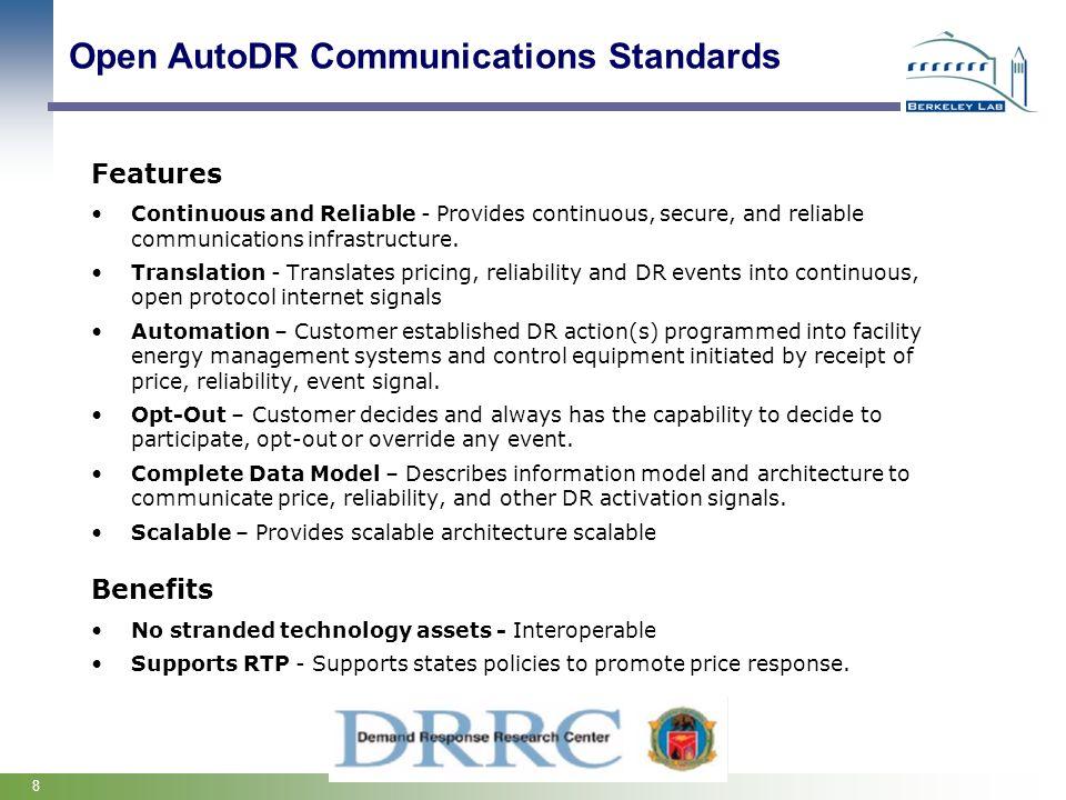 Open AutoDR Communications Standards