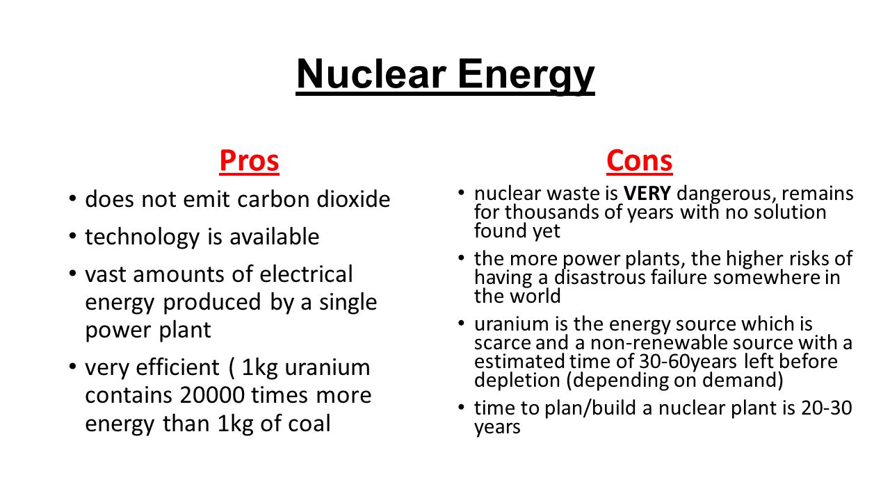 pros cons advantages disadvantages nuclear energy fossil f