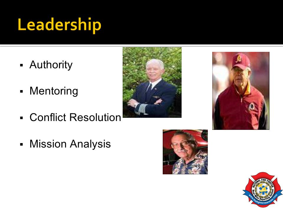 Leadership Authority Mentoring Conflict Resolution Mission Analysis