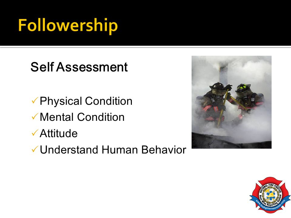 Followership Self Assessment Physical Condition Mental Condition