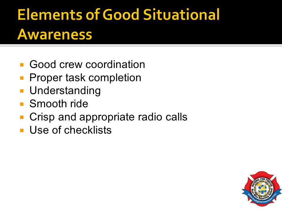 Elements of Good Situational Awareness
