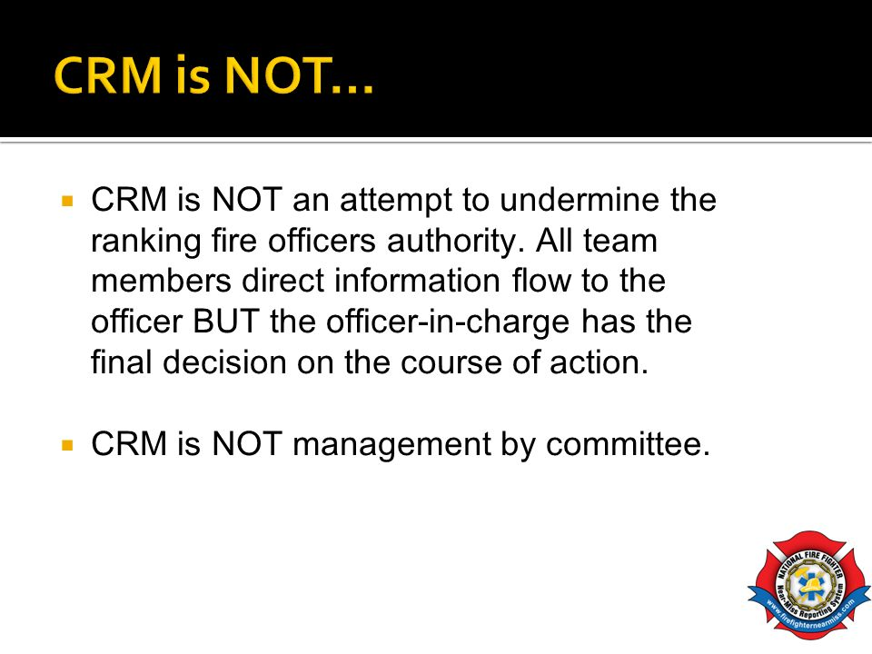 CRM is NOT…
