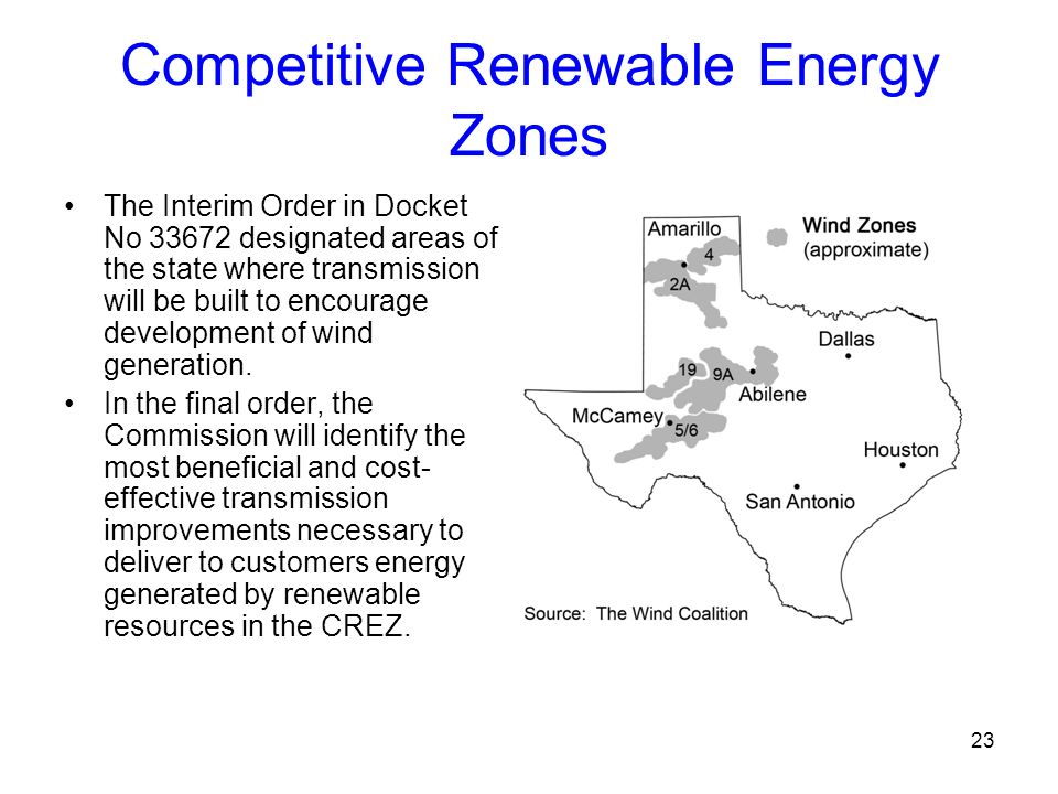 Competitive Renewable Energy Zones