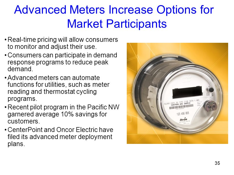 Advanced Meters Increase Options for