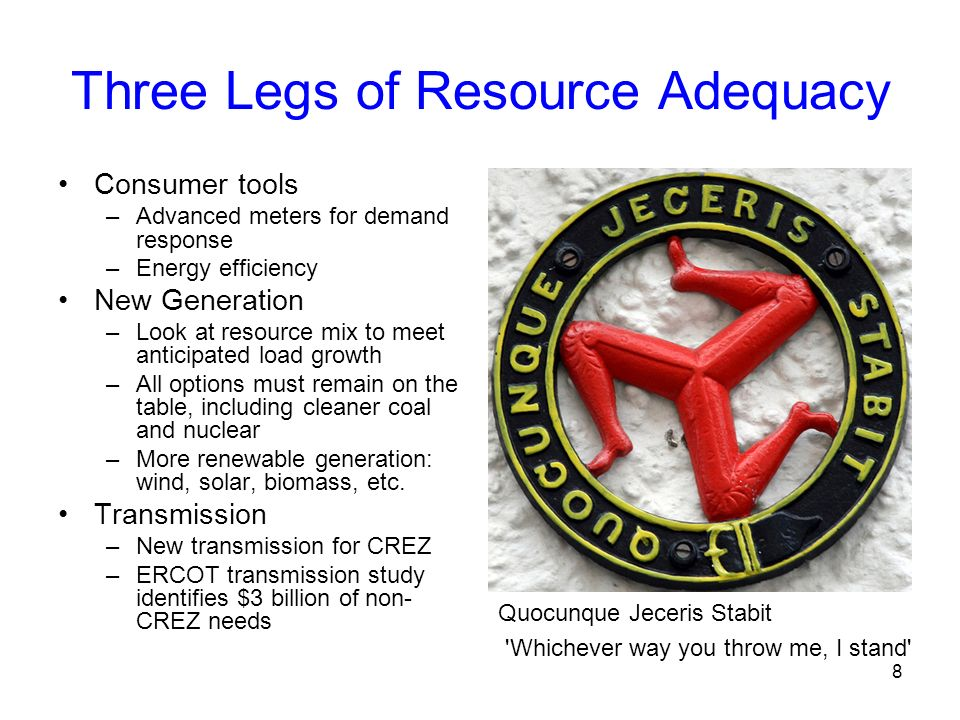 Three Legs of Resource Adequacy