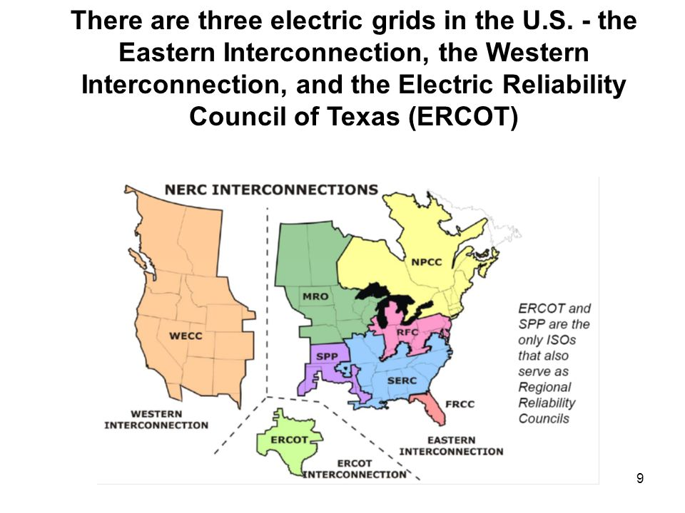 There are three electric grids in the U. S