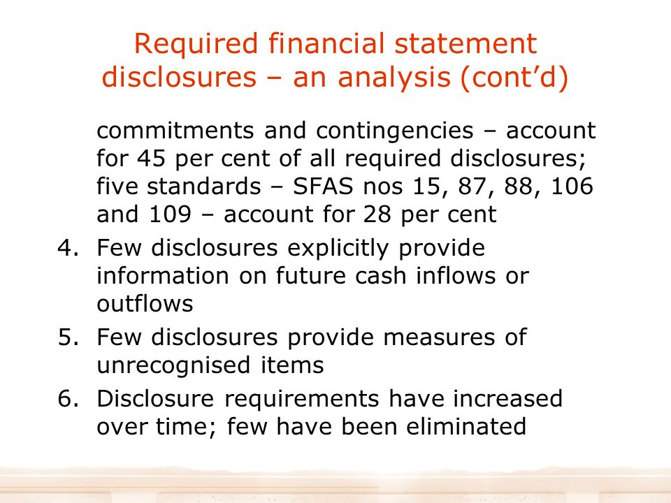 Accounting for Contingencies: Disclosure of Future Business Risks