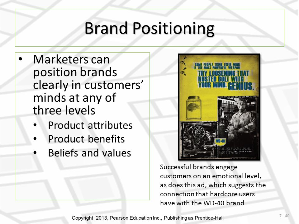 Brand positioning and core values