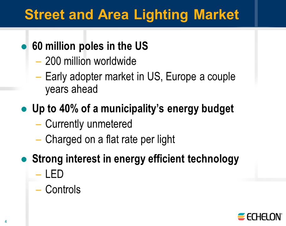 Street and Area Lighting Market