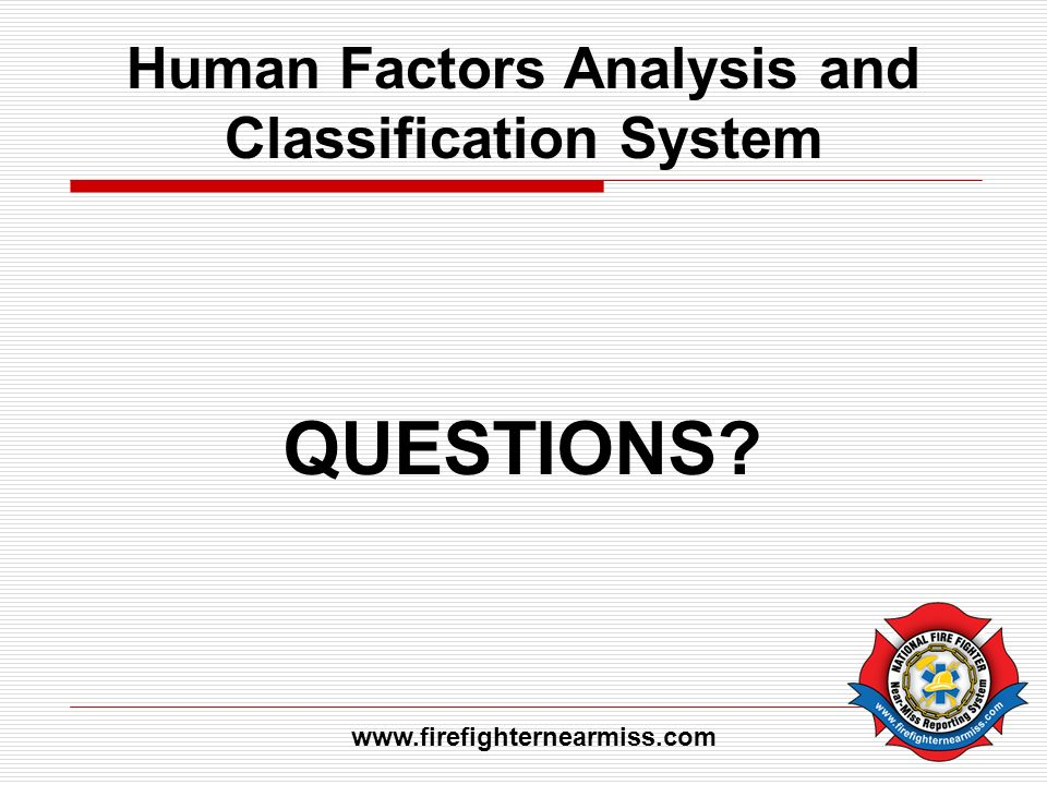 Human Factors Analysis and Classification System