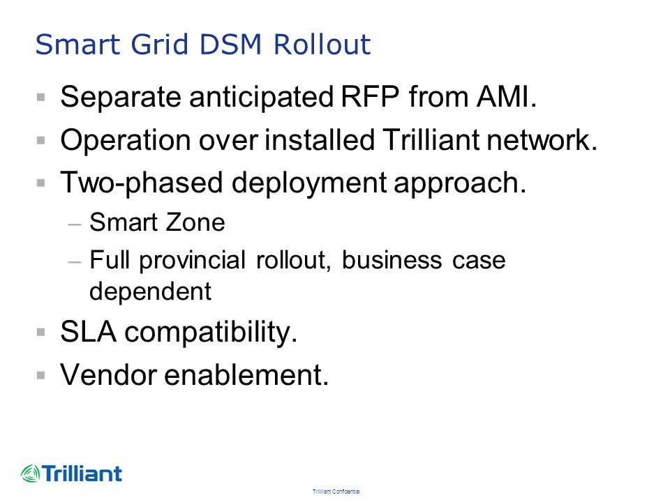 Separate anticipated RFP from AMI.