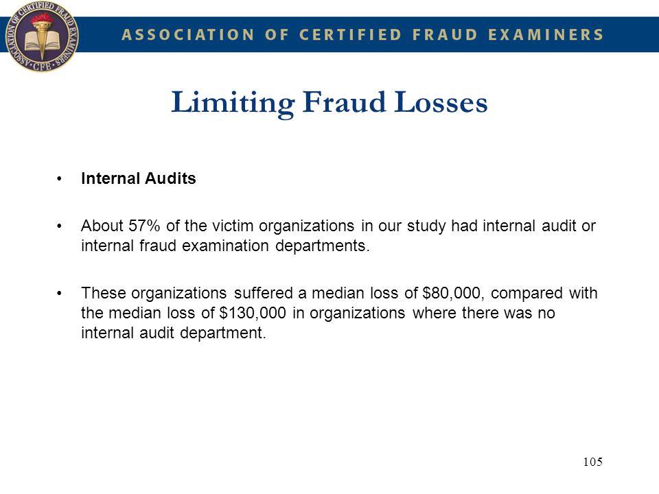 Limiting Fraud Losses Internal Audits