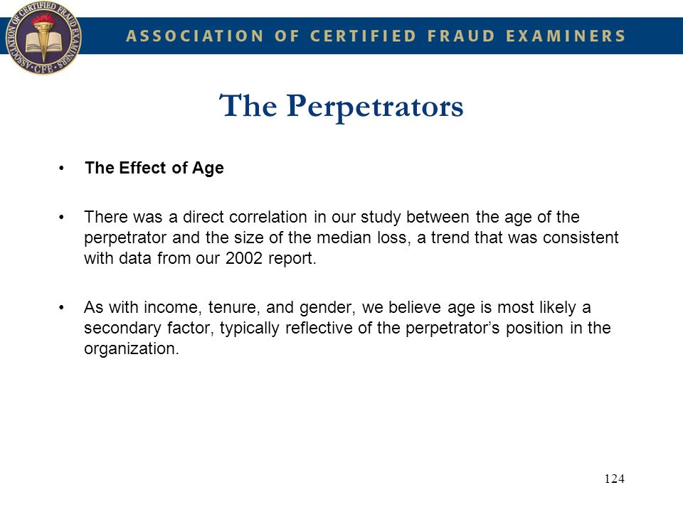 The Perpetrators The Effect of Age