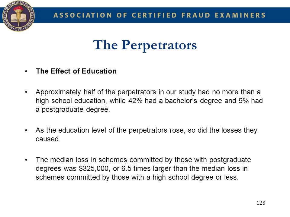 The Perpetrators The Effect of Education