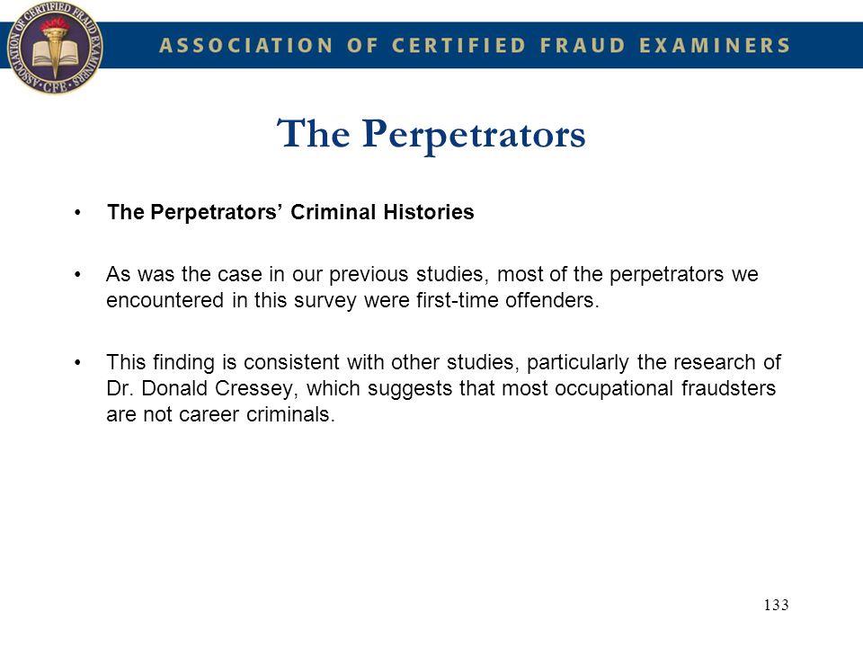 The Perpetrators The Perpetrators' Criminal Histories