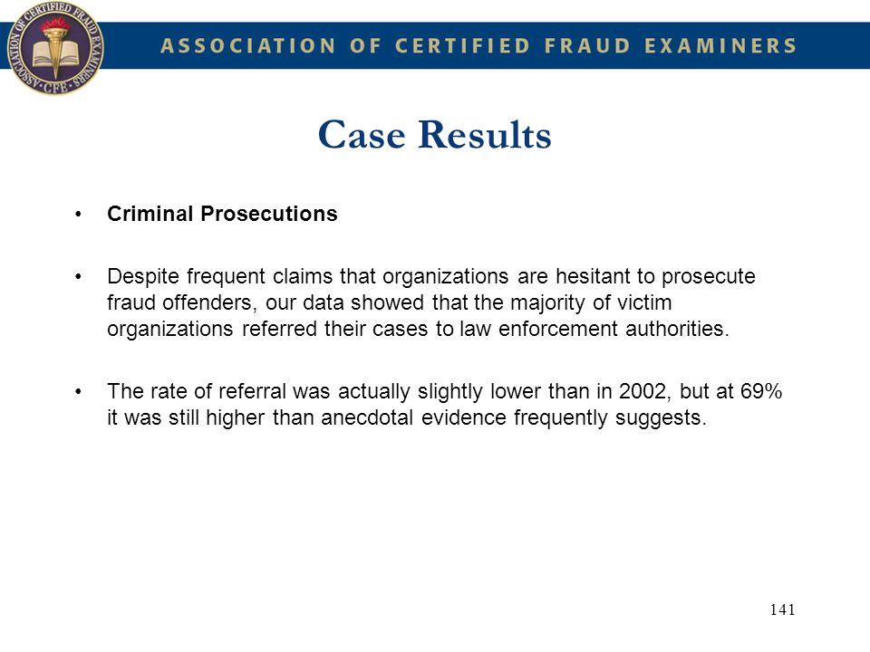 Case Results Criminal Prosecutions