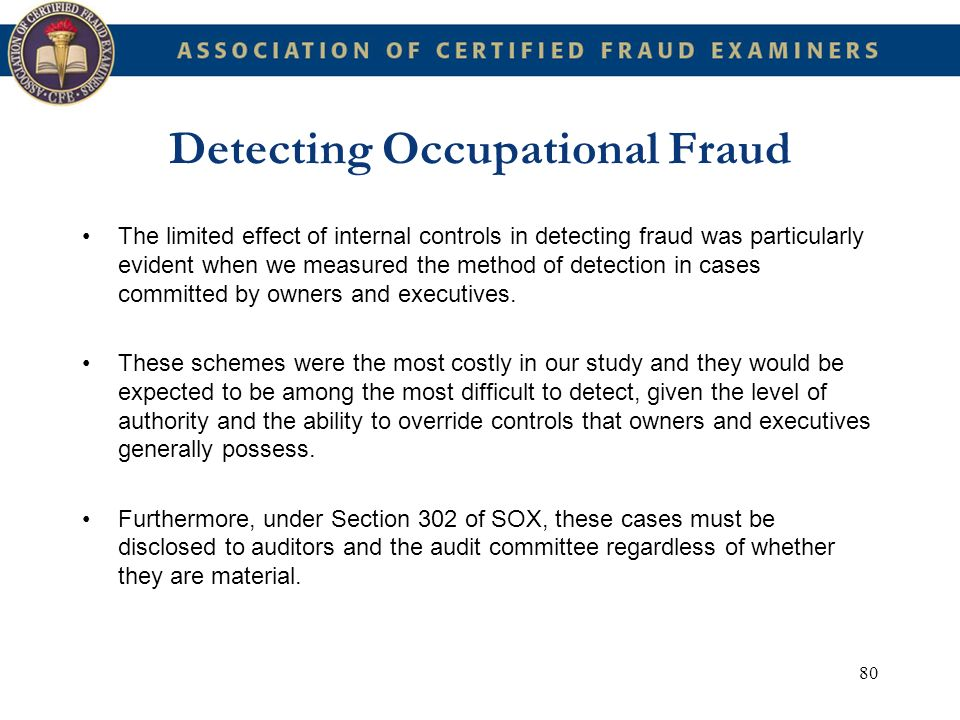 Detecting Occupational Fraud