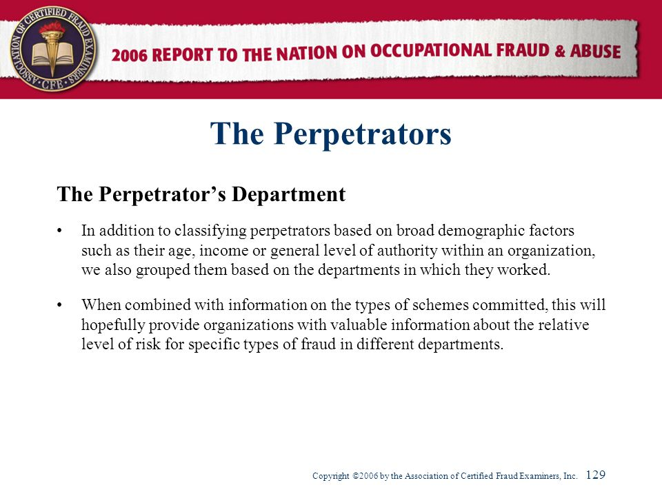 The Perpetrators The Perpetrator's Department
