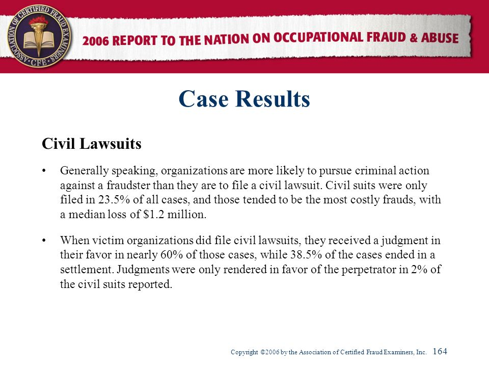 Case Results Civil Lawsuits