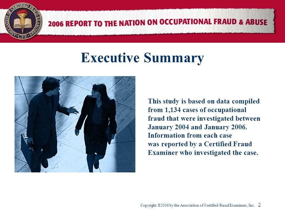 Executive Summary This study is based on data compiled